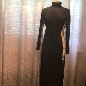 Fredrick's of Hollywood long black chain dress